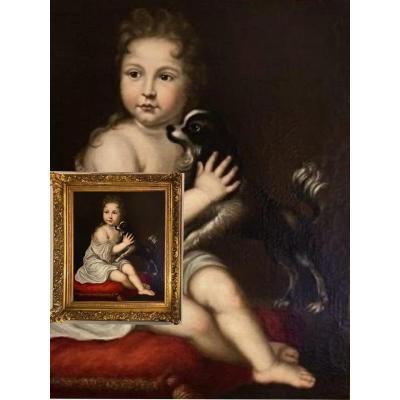 Jeune Maître et son petit chien, 1720, J. Ranc** HST