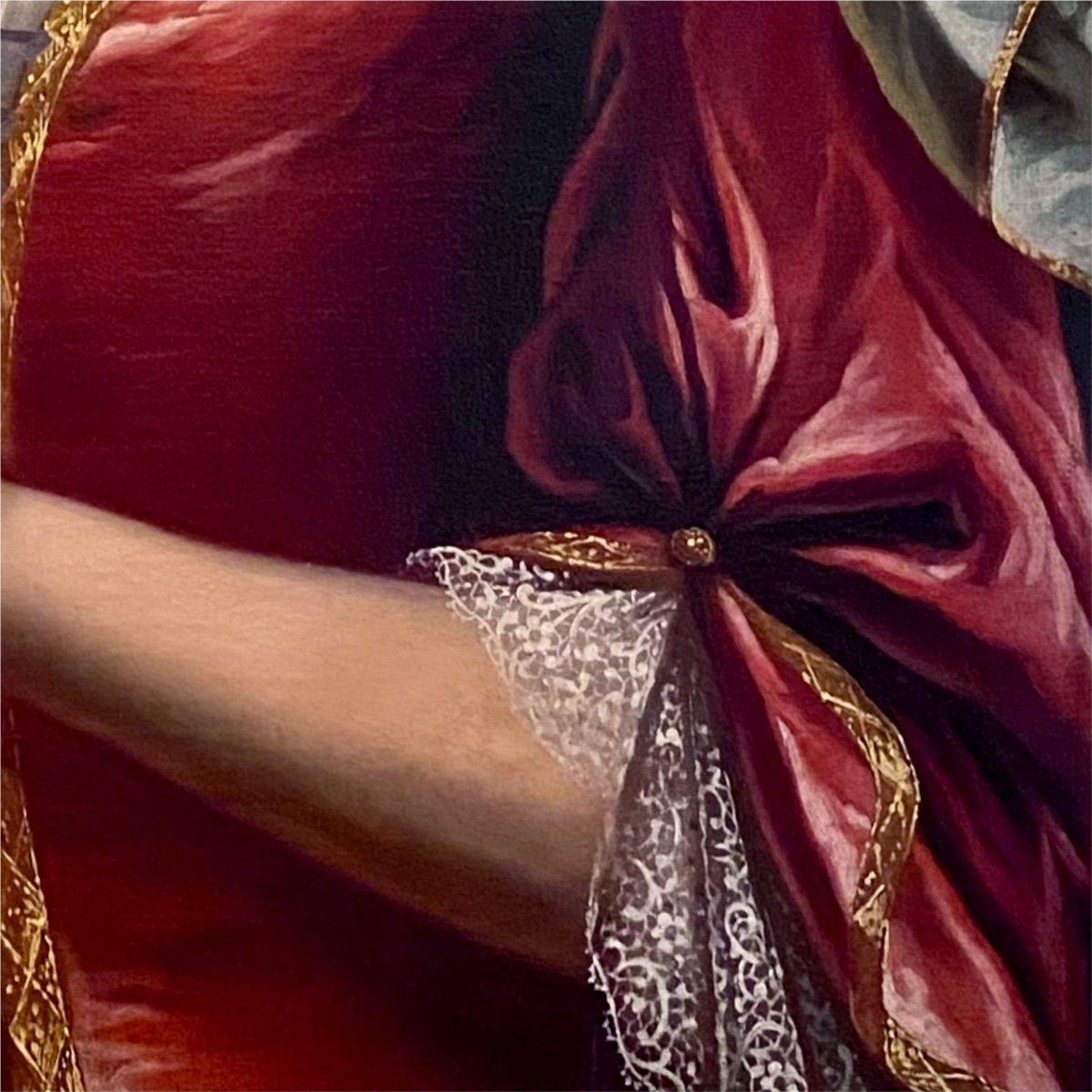 Dame de qualité Régence XVIIIè, par suiv. de Largillierre.-photo-3