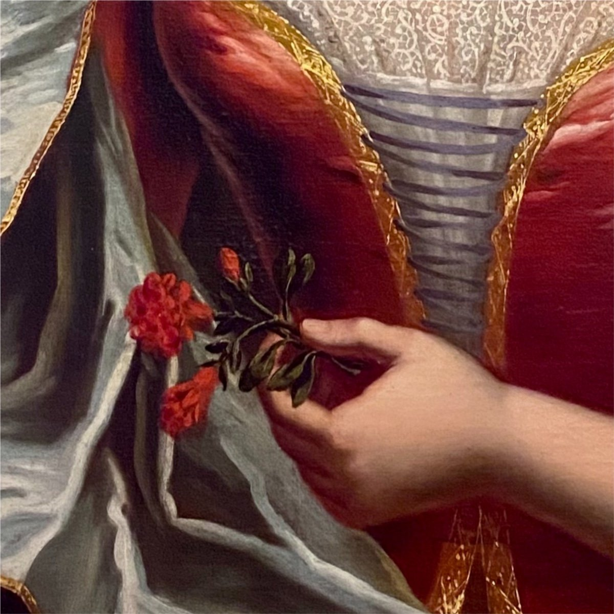 Dame de qualité Régence XVIIIè, par suiv. de Largillierre.-photo-1