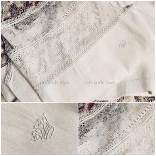 3 chemises de Dame à couronne ducale, fil de lin.