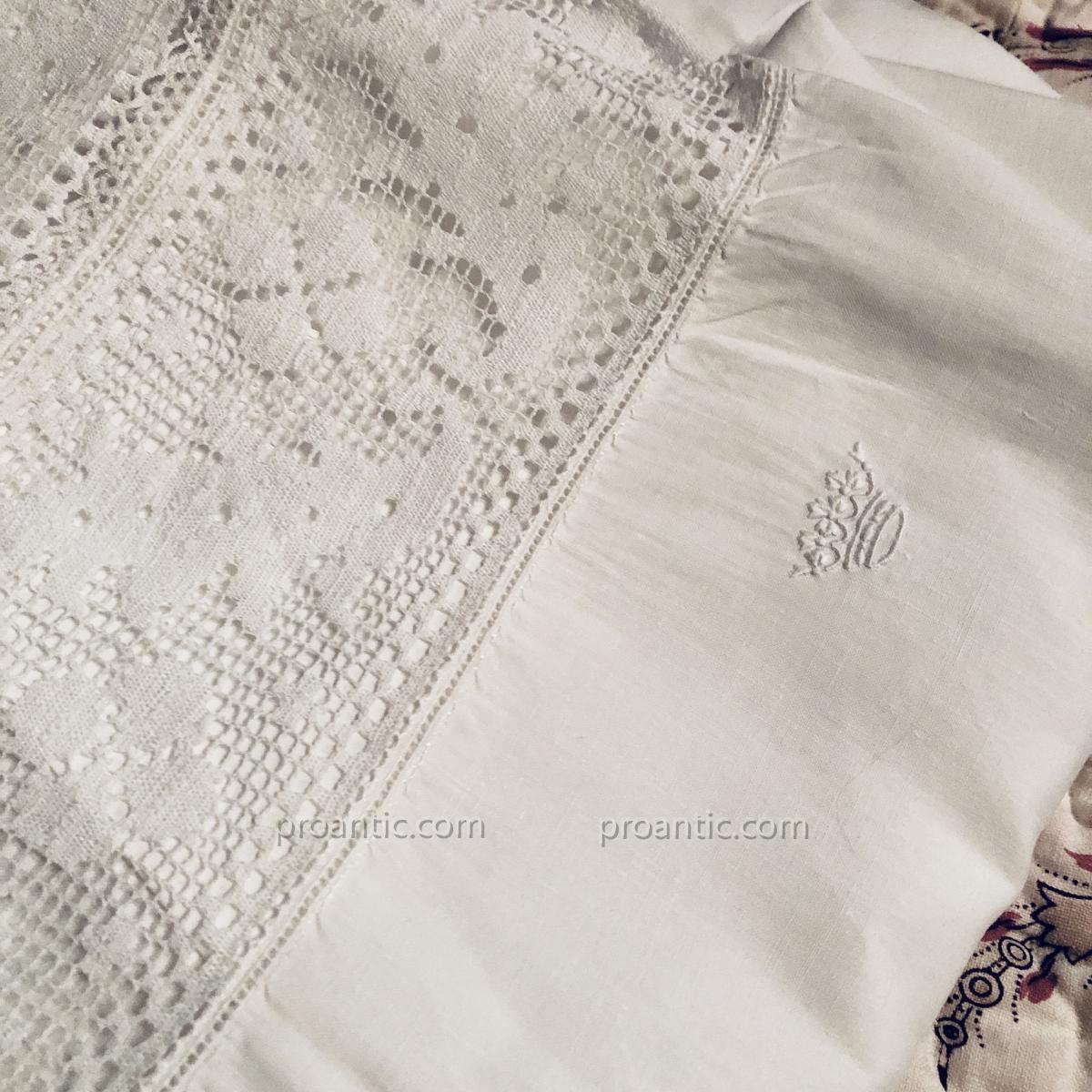 3 chemises de Dame à couronne ducale, fil de lin.-photo-2