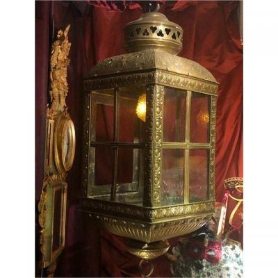 Grande lanterne, goût du 17è, riches ornementations, ép. 19è.-photo-8