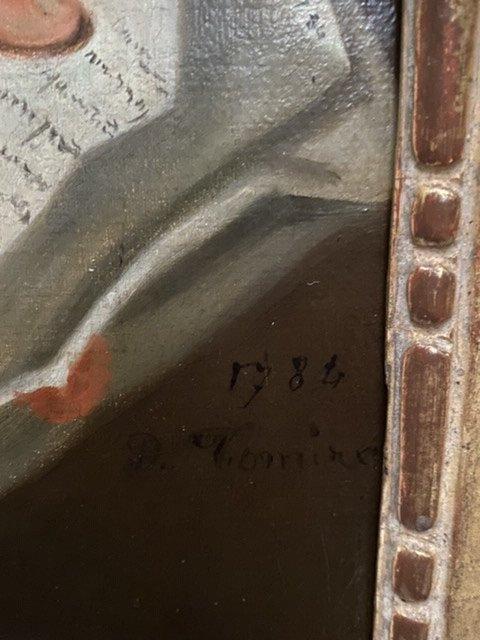 Lettré à sa dépêche , 1784, Signé. XVIIIè-photo-4