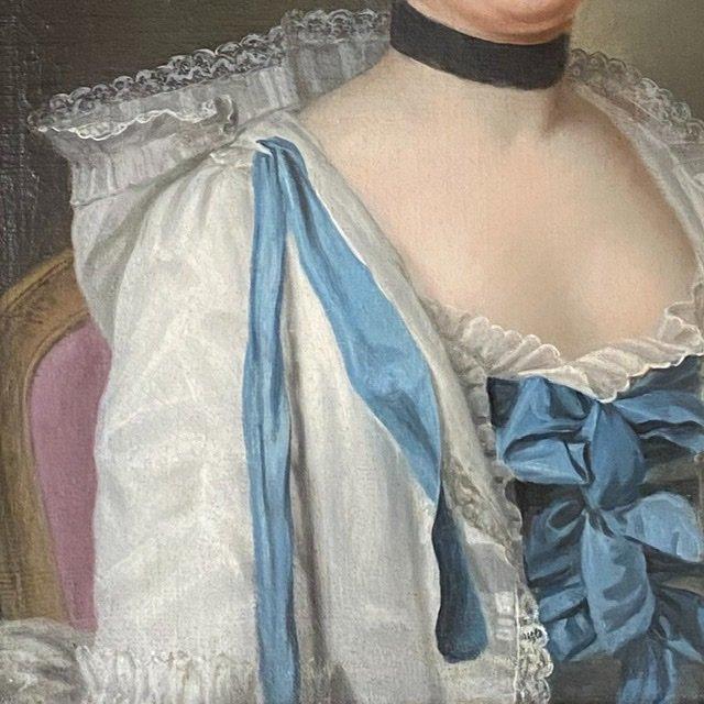 HST   Dame élégante en son intérieur, vers 1765, ( ent. LM Van Loo).