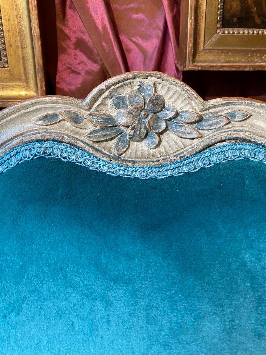 Paire d'amples fauteuils, Provence, XVIIIe, époque Louis XV.