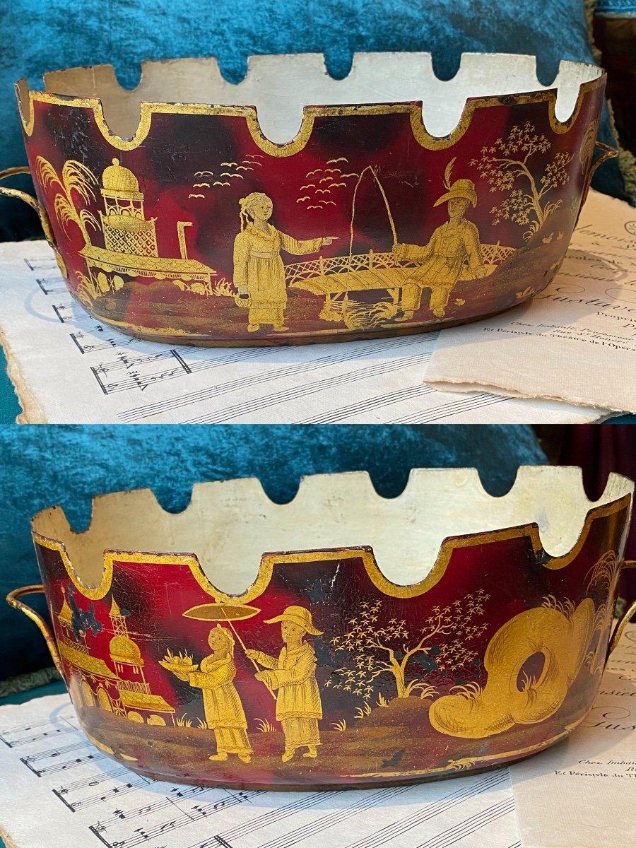 Rare paire de «verrières», Vernis Martin «aux chinois», époque Louis XV/Transition. XVIIIe-photo-3