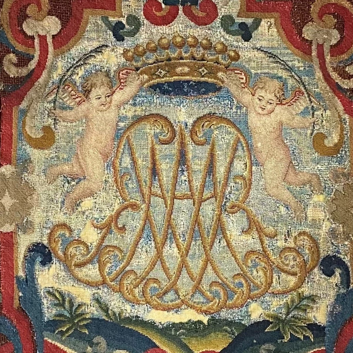 Tapestry, Noblesse Comtale, Petit Point. 1700.-photo-1