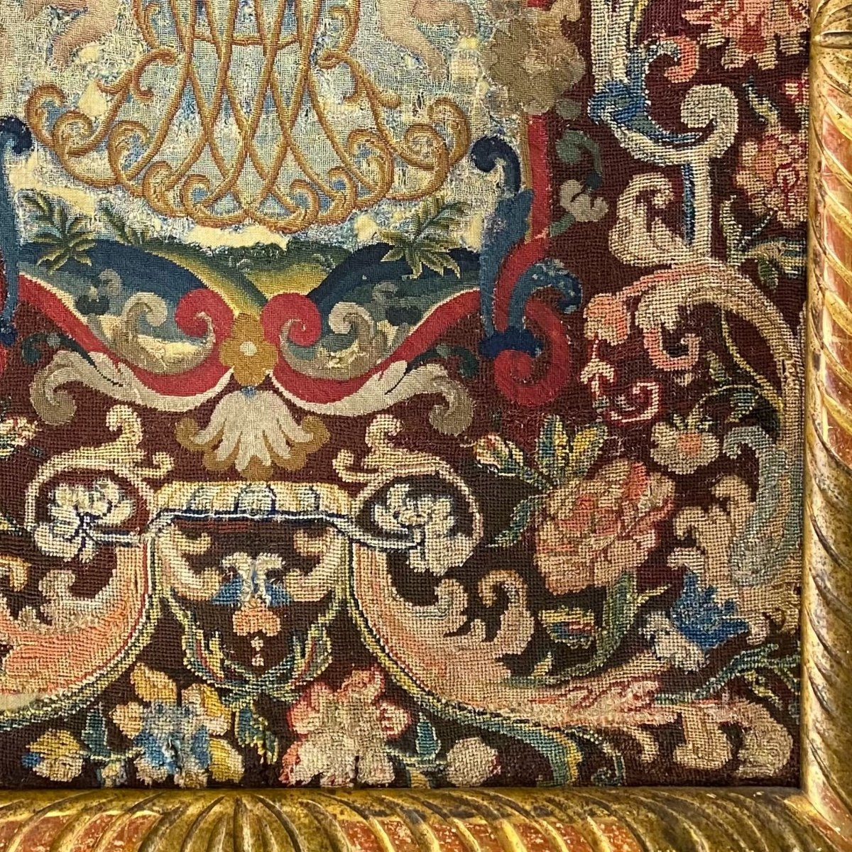 Tapestry, Noblesse Comtale, Petit Point. 1700.-photo-4