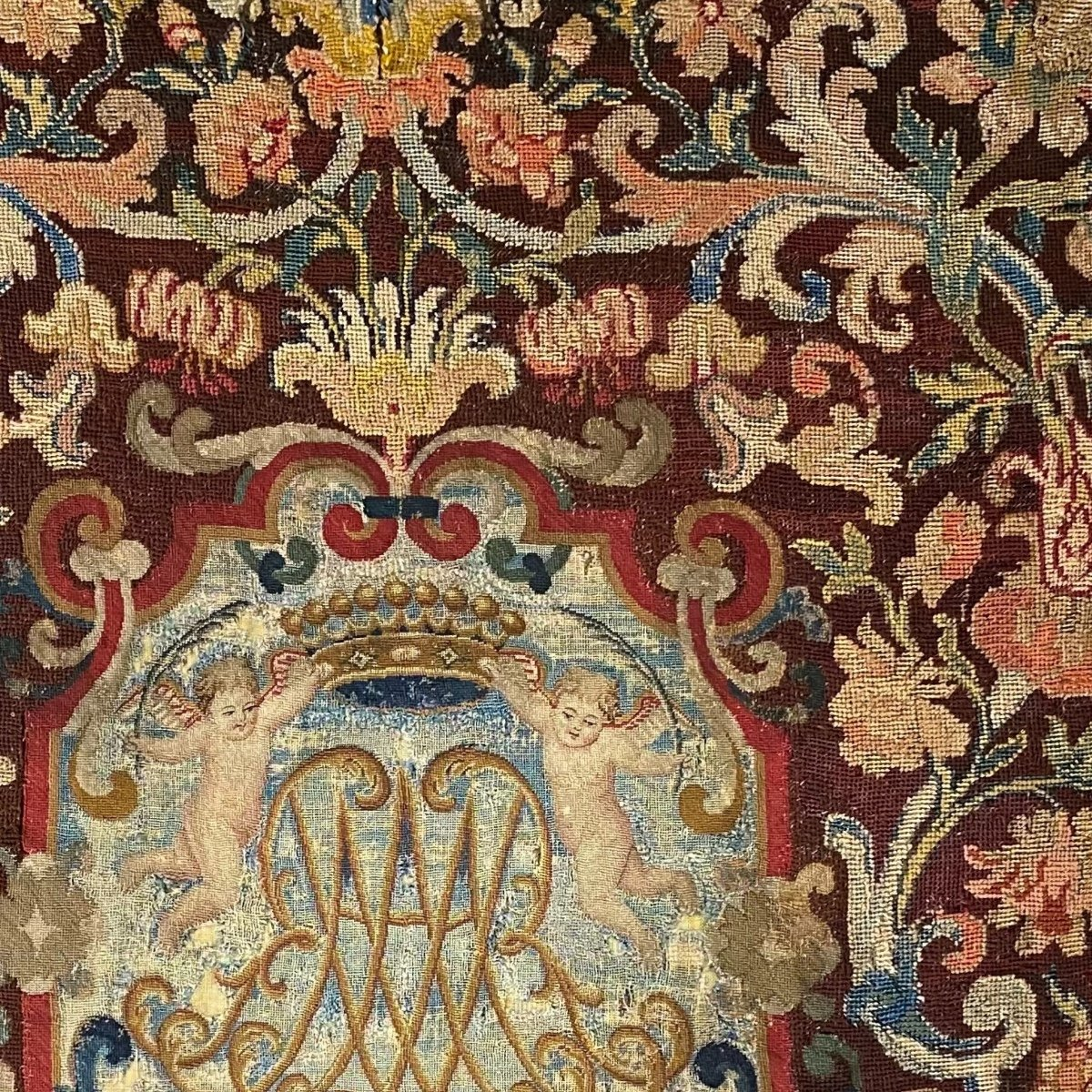 Tapestry, Noblesse Comtale, Petit Point. 1700.-photo-3