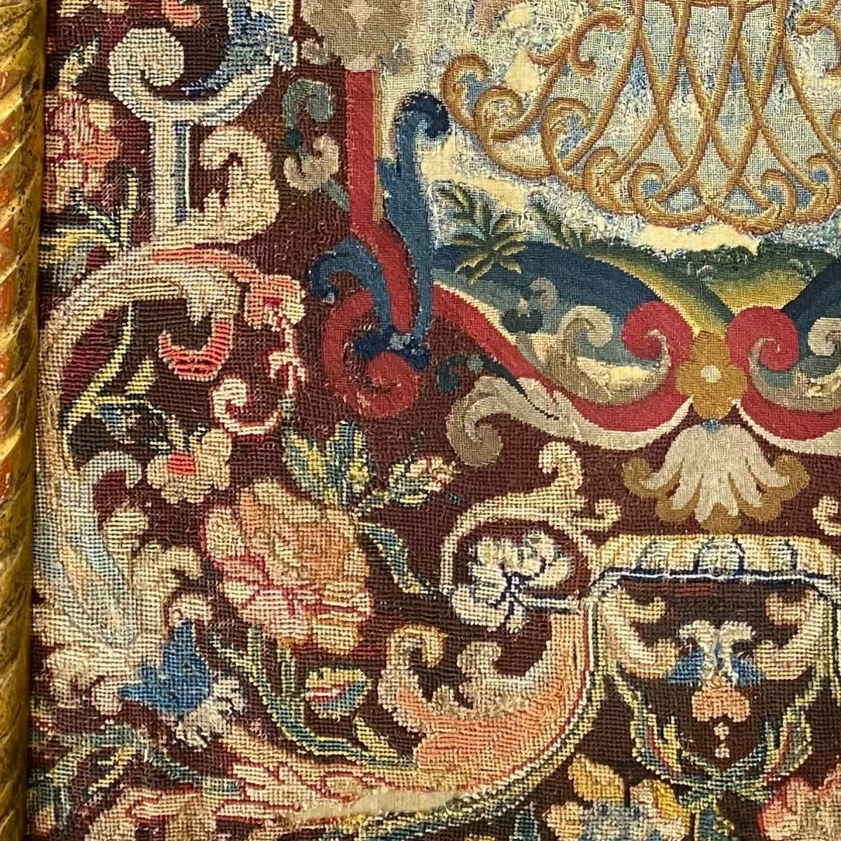 Tapestry, Noblesse Comtale, Petit Point. 1700.-photo-5