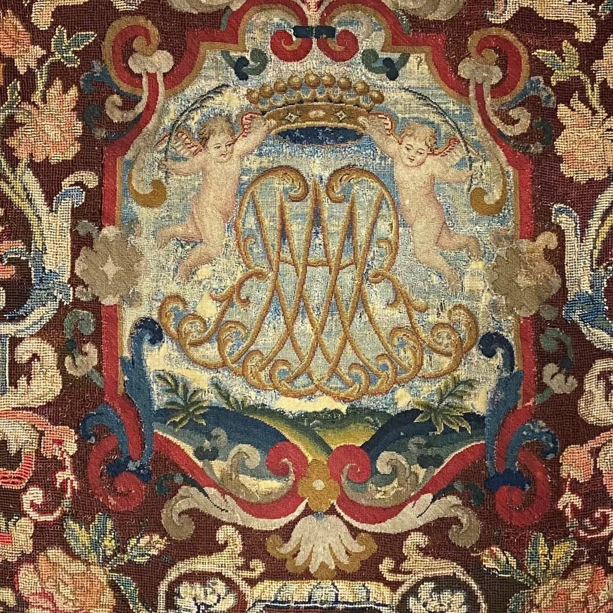 Tapestry, Noblesse Comtale, Petit Point. 1700.-photo-6