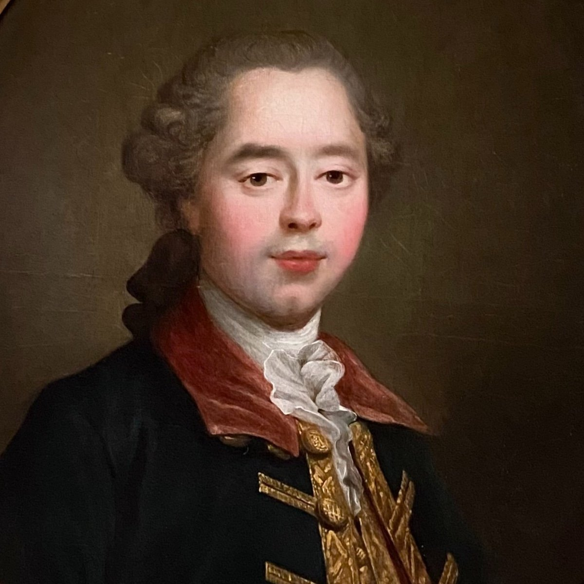 Homme de qualité en habit  de chasse ou d'hiver, époque Louis XVI, XVIIIe-photo-1
