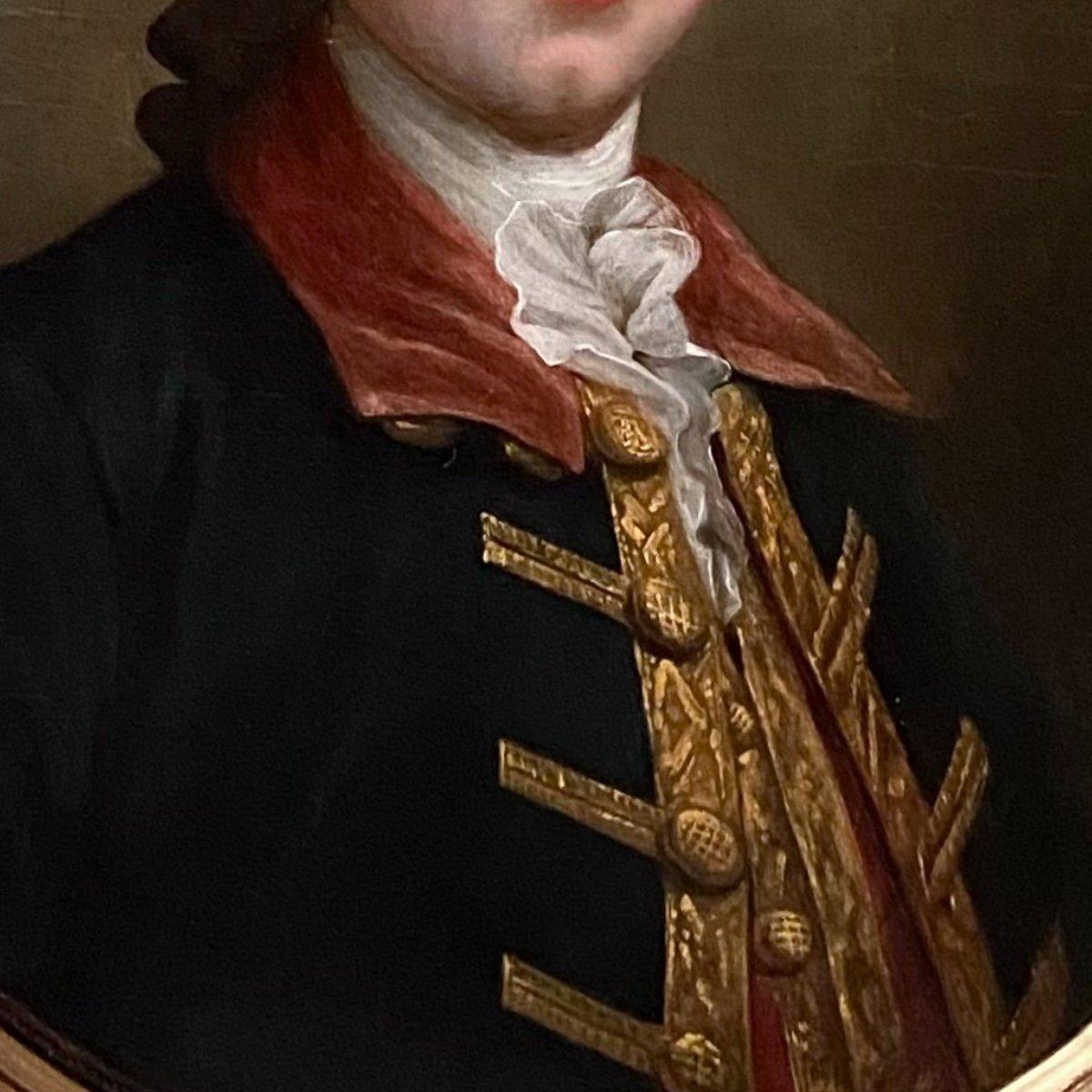 Homme de qualité en habit  de chasse ou d'hiver, époque Louis XVI, XVIIIe-photo-2