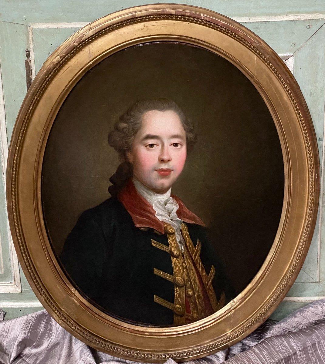 Homme de qualité en habit  de chasse ou d'hiver, époque Louis XVI, XVIIIe-photo-3