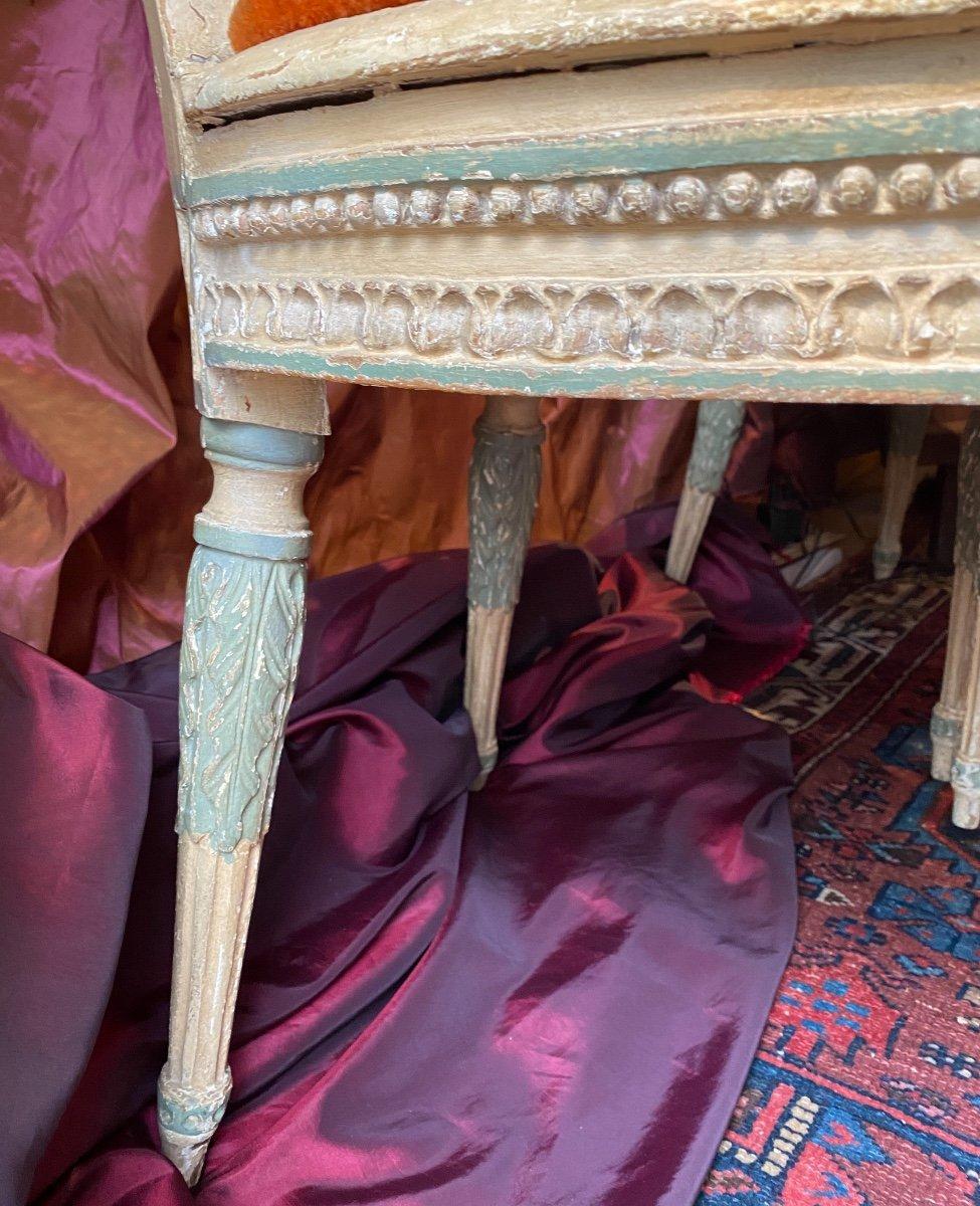 Rare suite de 4 chaises d'époque Louis XVI - 18ème. -photo-5