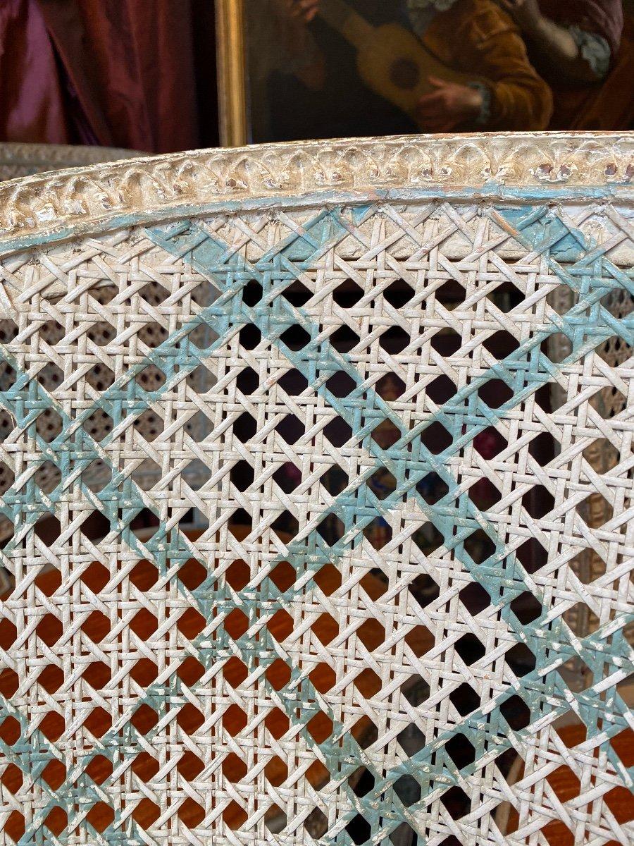 Rare suite de 4 chaises d'époque Louis XVI - 18ème. -photo-7