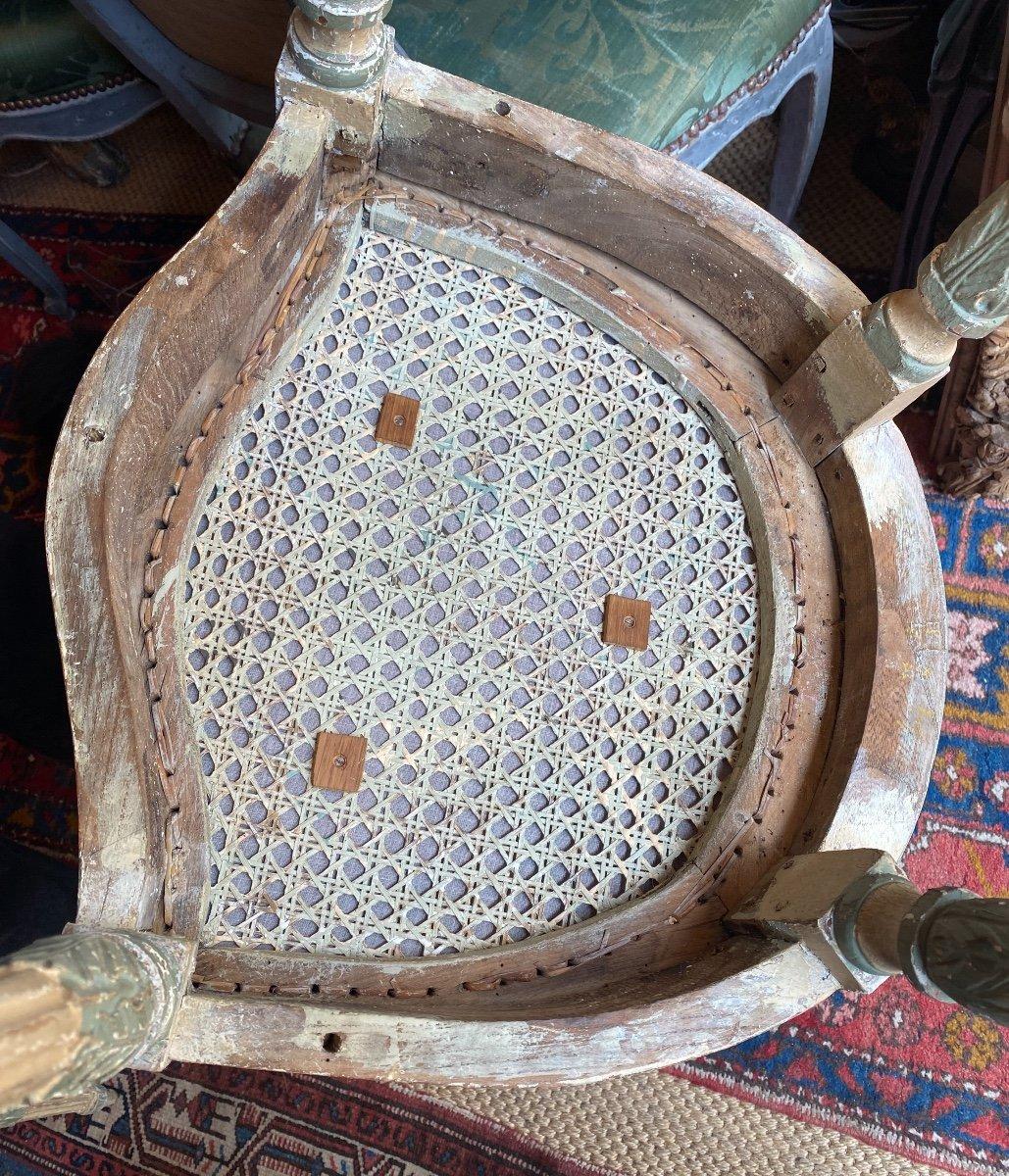 Rare suite de 4 chaises d'époque Louis XVI - 18ème. -photo-6