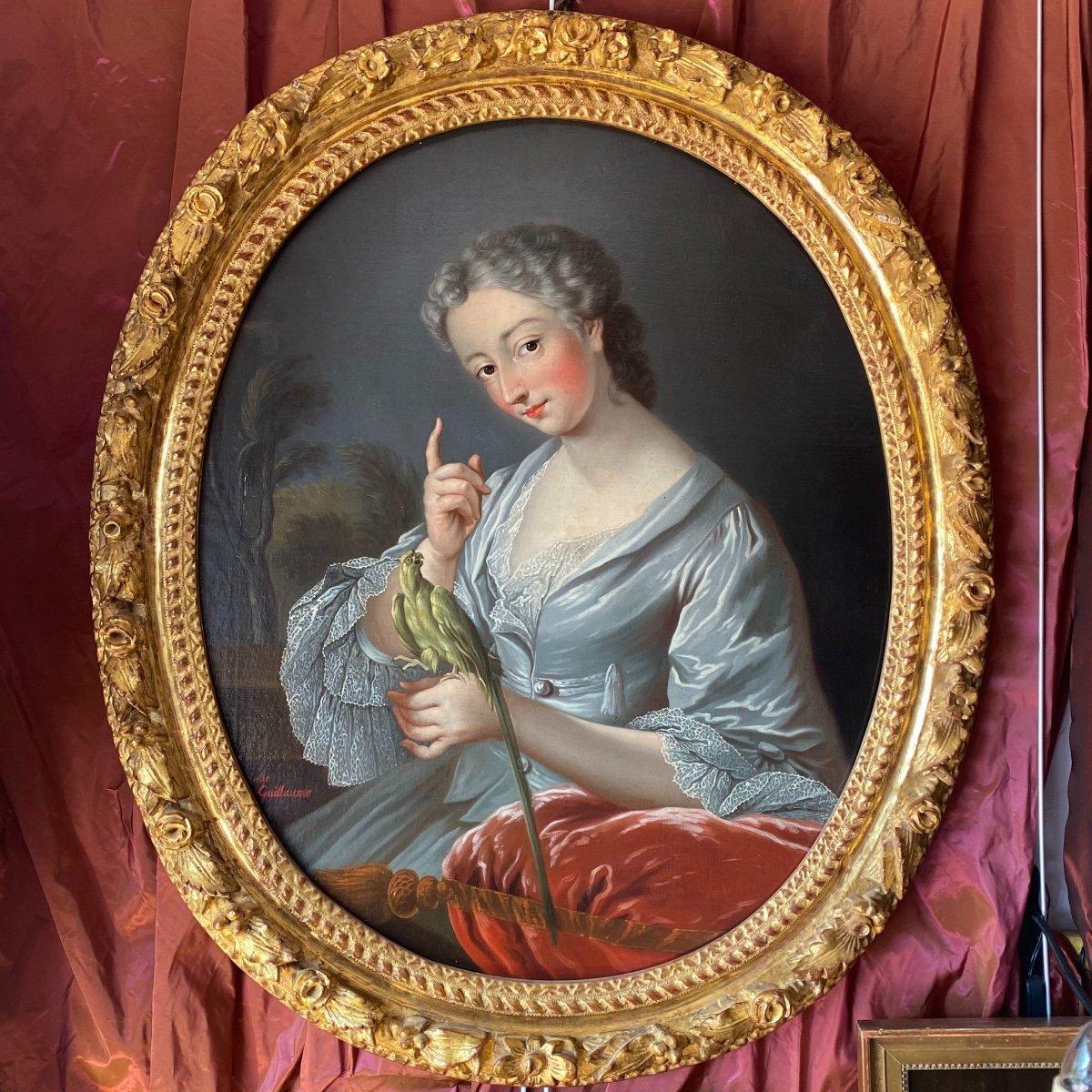 J-A Berthelot de Pléneuf, Marquise de Prie. Vers 1720. JB Van Loo (atelier)