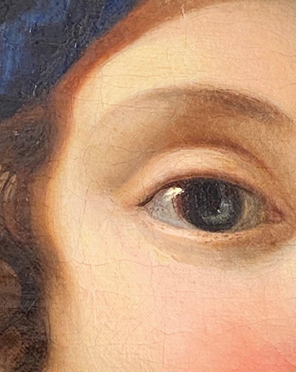 Jeune femme à la partition vers 1730 (J-F Courtin, entourage), XVIIIe. -photo-5