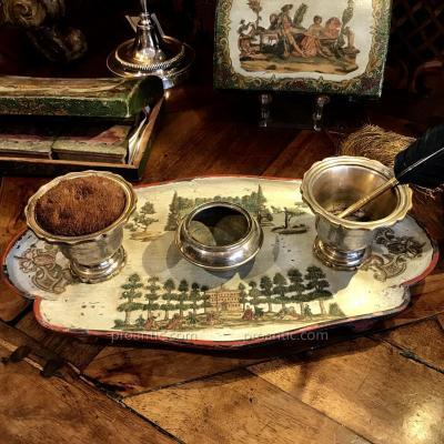 Arte Povera, rare écritoire d'époque XVIIIè