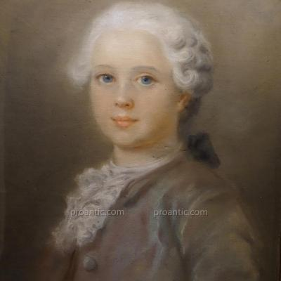 Pastel, Portrait Of A Young Boy, Louis XV.