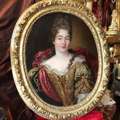 Dame de qualité, portrait d'époque Régence, XVIIIème.
