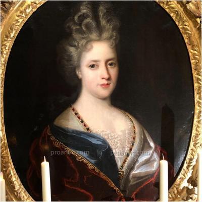 Jeune Dame de qualité, époque Louis XIV, par Richer 1696**, XVIIème.
