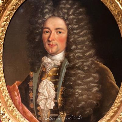 Portrait d'homme de qualité,  époque Louis XIV, XVIIIème.