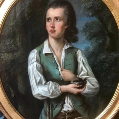 Poète à la campagne, époque J.J. Rousseau,  XVIIIème