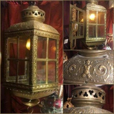 Lanterne, style 17è à riches ornementations, 19è.