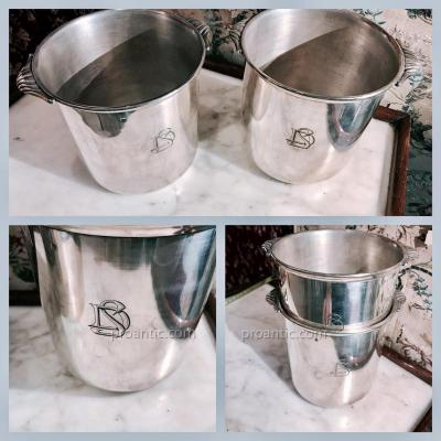 Pair Of Silver Table Refreshments. Art Deco XXth