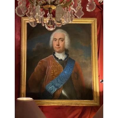 Lord Anglais, Chevalier de la Jarretière, XVIIIe. Ep. George III.