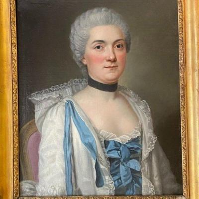 Elegant Lady In Her Interior, Around 1765, (ent. Lm Van Loo).