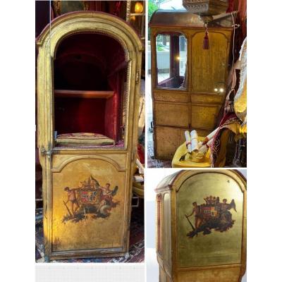 Chaise à porteurs. Luxe doré d'une Marquise**, XVIIIè sous Louis XV.