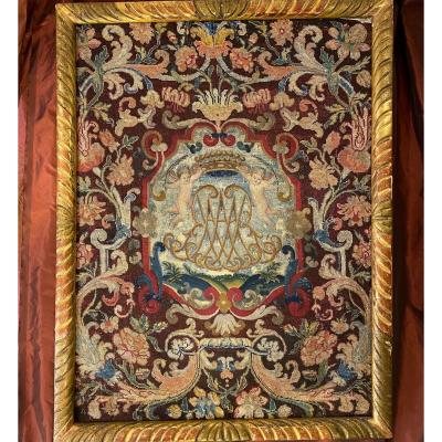 Tapestry, Noblesse Comtale, Petit Point. 1700.