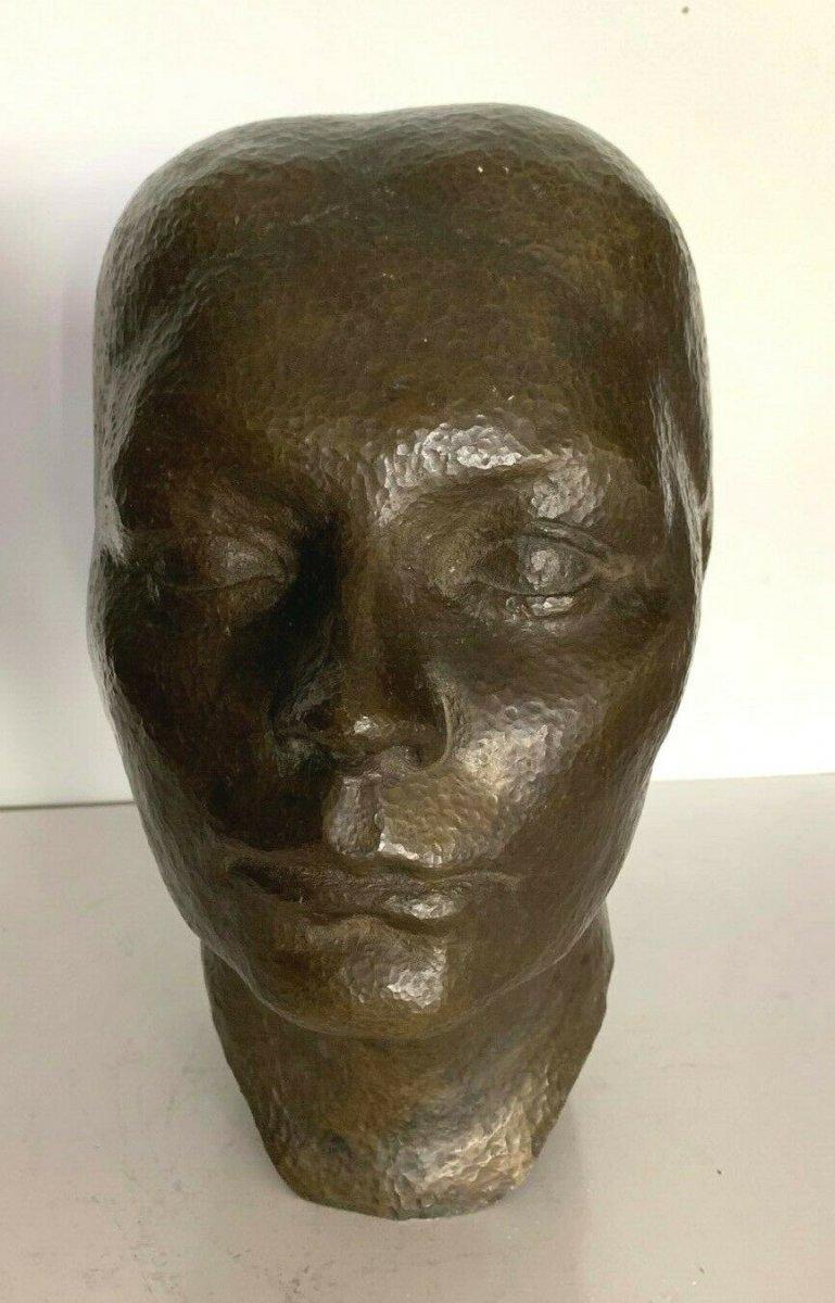 Bust Bronze Woman Bronze Patina Group Bronze