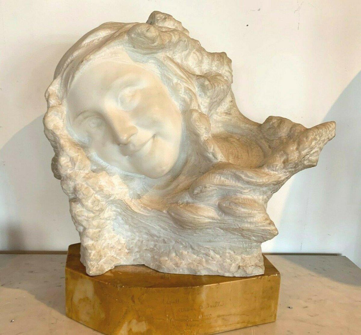 Groupe En Marbre De Carrarre Prof Pattarino Sculpture En Marbre XX Siècle