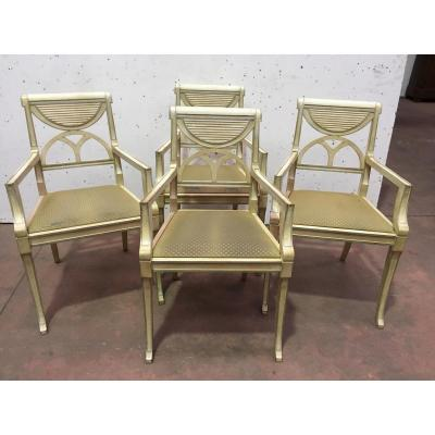 Armchair In Beech Patinated Pair Of Armchairs Design Armchair Style Chair