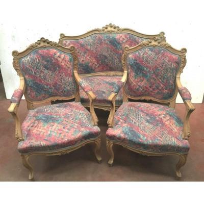Mobilier De Salon De Style Louis XV Canapé Et Fauteuils Rocaille Chaises