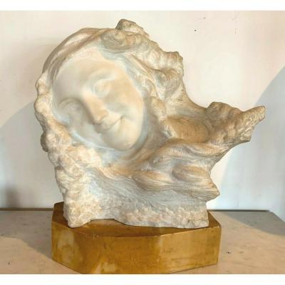 Group Marble Carrara Prof Pattarino Sculpture Marble XX Century