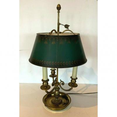 Hot Water Bottle Lamp In Bronze And Sheet Metal Table Lamp XX Century Office
