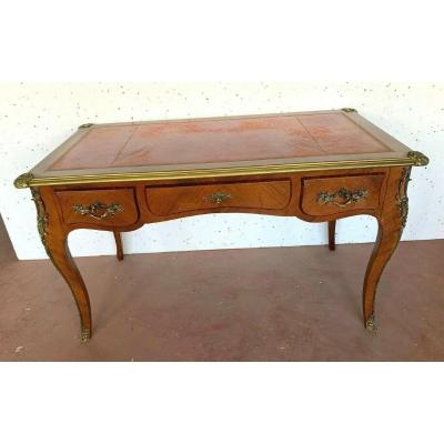 Louis XV Style Ceremonial Desk Red Leather Top XX Century
