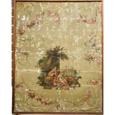 Large Decorative Panel Painted From A Scene In The Antique XIX Century