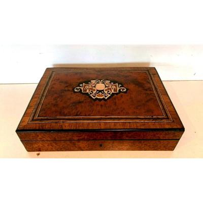Box A Tokens Thuja Loupe Box Napoleon III Boulle Marquetry XX Century