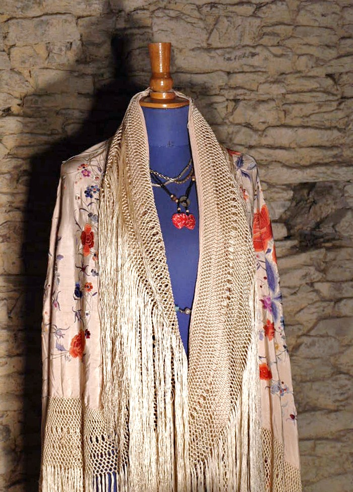 Large Embroidered Shawl, China. Early Twentieth Century