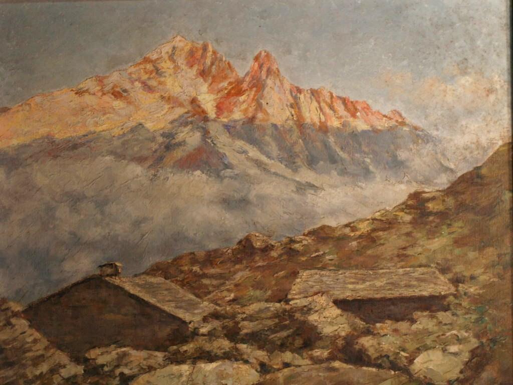 Mountain Landscape Signed C. Castelli (1870-1959)