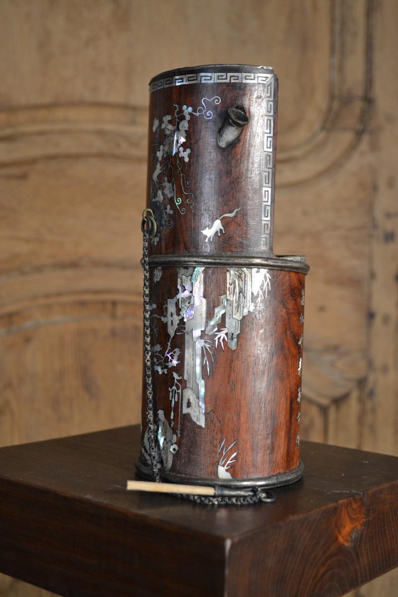 Opium Pipe Bamboo Wood, Nineteenth Century.