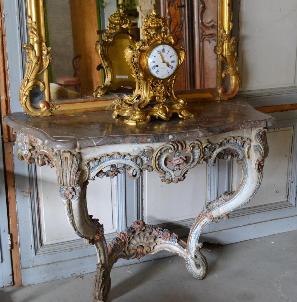 Console Peinte Provençale, époque 18 ème Siècle