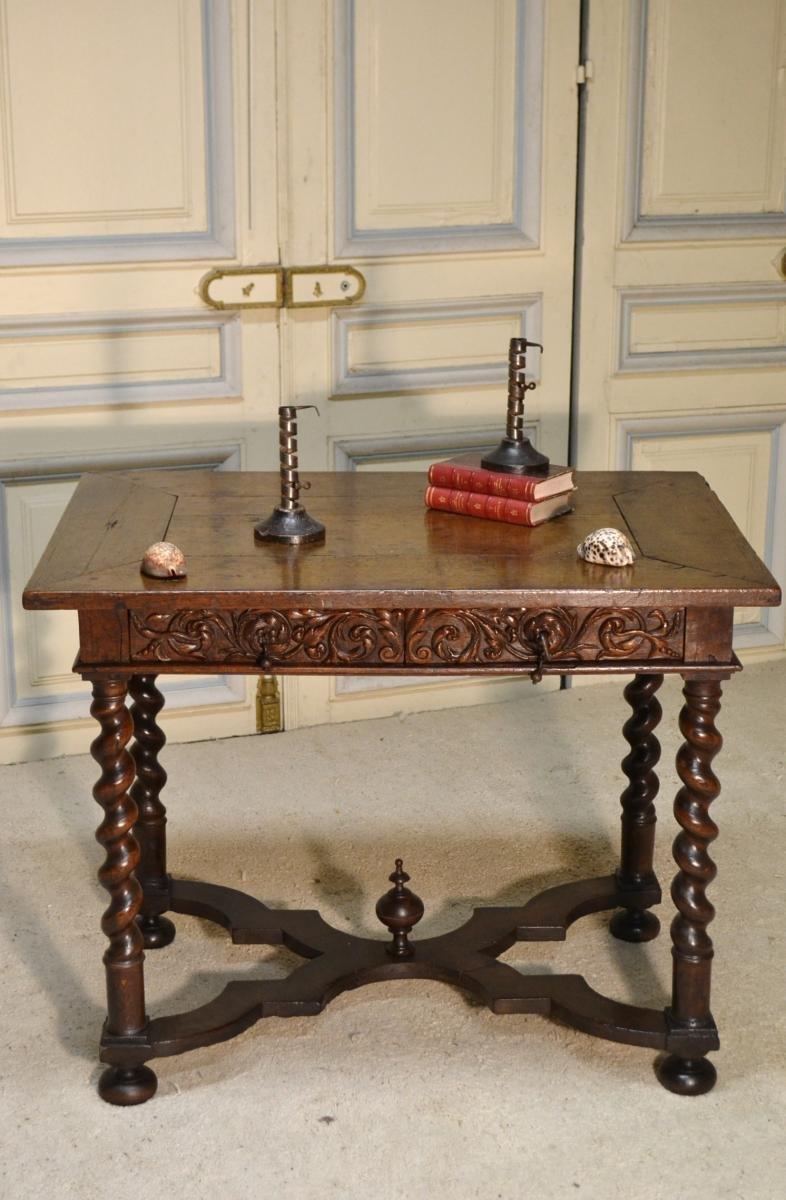 Table à écrire En Chêne, Vire époque 17e Siècle