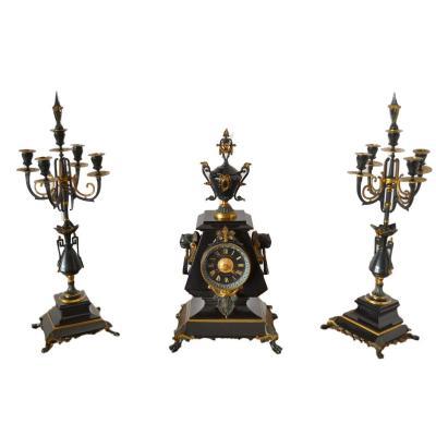 Garniture De Cheminée époque XIXème Siècle